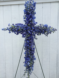 Blue Delphinium Cross your flower shop in Wyckoff, NJ