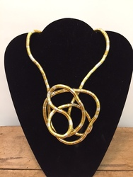 Gold Twist Necklace your flower shop in Wyckoff, NJ