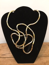 Gold/Pewter Snake Twist Necklace your flower shop in Wyckoff, NJ