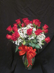2 DOZEN ROSES ARRANGED