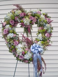 Blue & Lavender Victorian Heart your flower shop in Wyckoff, NJ