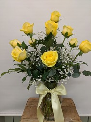 Dozen Yellow Roses your flower shop in Wyckoff, NJ