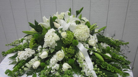 Serene Remembrance Casket Spray your flower shop in Wyckoff, NJ