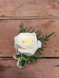 White Rose Boutonniere your flower shop in Wyckoff, NJ